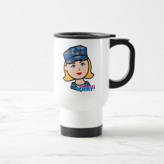 Mujer de la marina de guerra taza de viaje