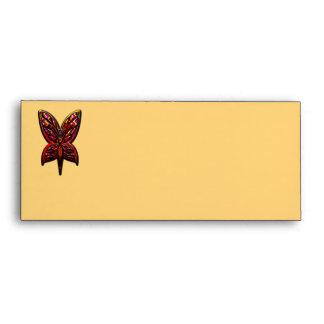 Mujer de la mariposa sobre