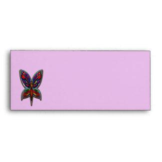 Mujer de la mariposa sobres