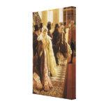 Mujer de la moda por Tissot, arte del Victorian Impresiones En Lienzo Estiradas