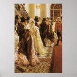 Mujer de la moda por Tissot, arte del Victorian Posters