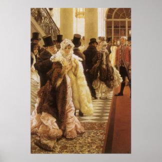 Mujer de la moda por Tissot, arte del Victorian Póster