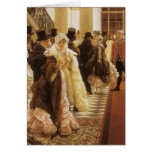 Mujer de la moda por Tissot, arte del Victorian Tarjetón