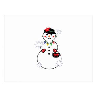 Mujer de la nieve tarjeta postal