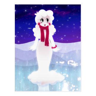 Mujer de la nieve tarjetas postales