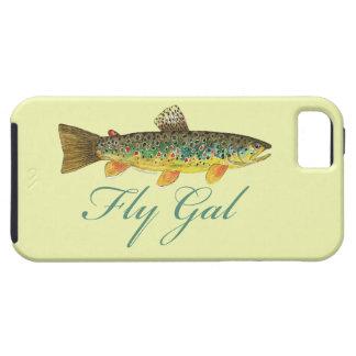 Mujer de la pesca con mosca funda para iPhone SE/5/5s