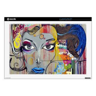 Mujer de la pintada calcomanía para portátil