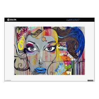 Mujer de la pintada calcomanías para 38,1cm portátiles