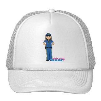 Mujer de la policía - medio gorras