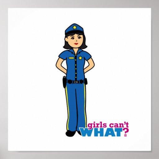 Mujer de la policía - medio poster