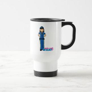 Mujer de la policía - medio taza de viaje de acero inoxidable