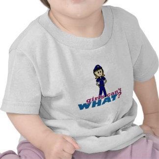 Mujer de la policía camisetas