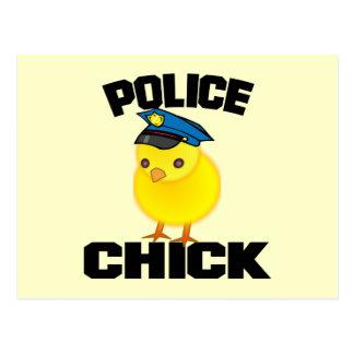 Mujer de la policía tarjeta postal