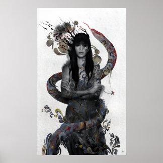 Mujer de la serpiente póster