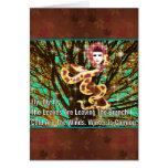 Mujer de la serpiente tarjetas