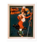 Mujer de la subasta del diablo en el teatro 3 del postal