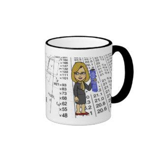 Mujer de la taza del ingeniero civil