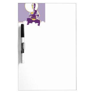 Mujer de la yogui pizarras