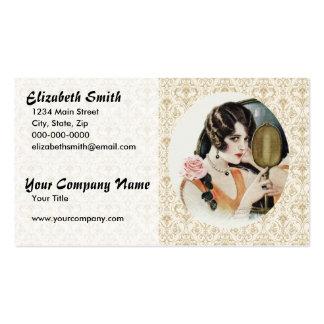 Mujer de los años 20 del vintage tarjetas de visita