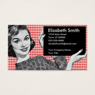 mujer de los años 50 con una muestra V2 Tarjetas De Visita