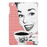 mujer de los años 50 con una taza de té V2 iPad Mini Fundas