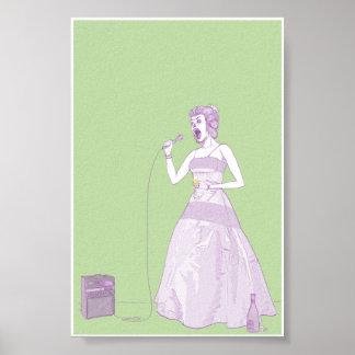 Mujer de lujo 4x6 del Karaoke Poster