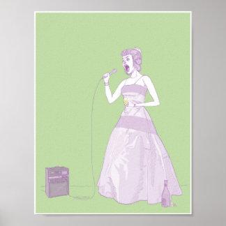 Mujer de lujo 8.5x11 del Karaoke Posters