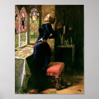 Mujer de Mariana con el vitral Póster