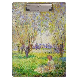 Mujer de Monet asentada bajo bella arte de los