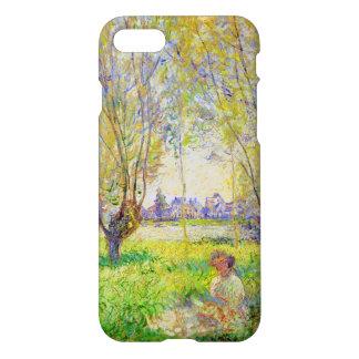 Mujer de Monet asentada bajo bella arte de los Funda Para iPhone 7