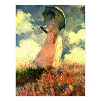 Mujer de Monet con la sombrilla Postal