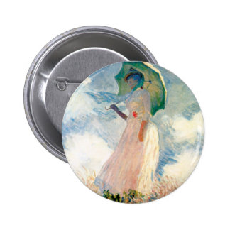 Mujer de Monet con un botón del parasol Pin