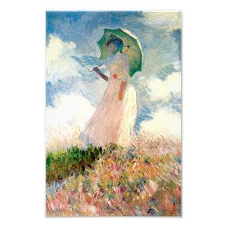 Mujer de Monet con una impresión del parasol Fotografías