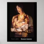 Mujer de Montenegro con el niño, después de Jarosl Poster