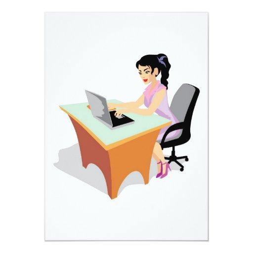 """mujer de negocios de invitación 5"""" x 7"""""""