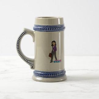Mujer de negocios - medio jarra de cerveza