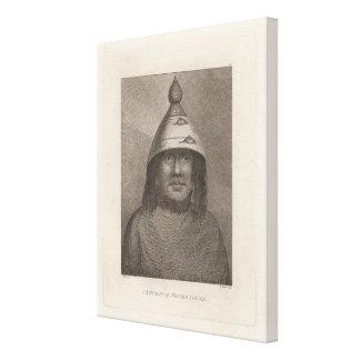 Mujer de Nootka, Columbia Británica Impresion En Lona