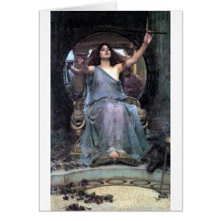 Mujer de ofrecimiento de Ulises de la taza del Wat Tarjeta De Felicitación
