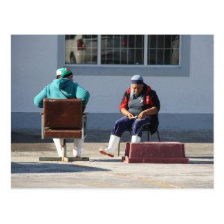Mujer de pescador en Sudáfrica Tarjeta Postal