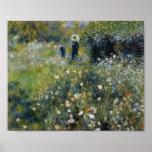 Mujer de Renoir con el parasol en jardín Posters