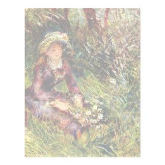 Mujer de Renoir con el perro de Pierre-Auguste Membrete