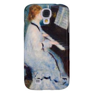 Mujer de Renoir en el piano Funda Para Galaxy S4
