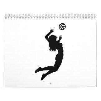 Mujer de salto del chica del voleibol calendarios