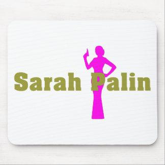 Mujer de Sarah Palin del misterio Tapetes De Ratón