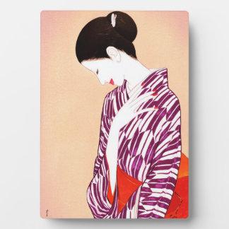 Mujer de Takasawa Keiichi en la señora de Japón de Placa
