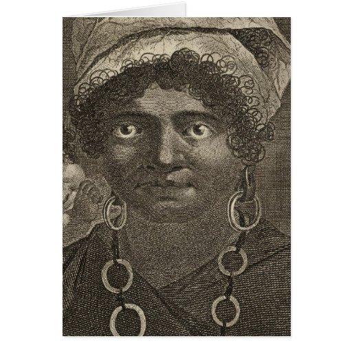 Mujer de Tanna, Vanuatu Tarjeta De Felicitación