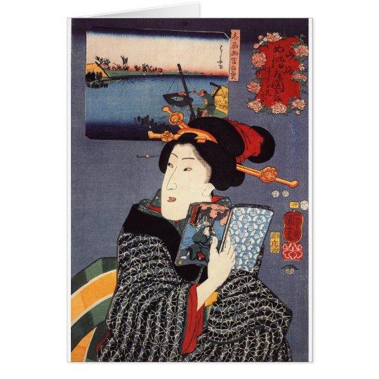 Mujer de Utagawa Kuniyoshi (12) Tarjeta De Felicitación
