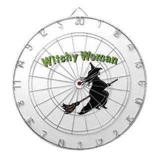 Mujer de Witchy Tablero Dardos
