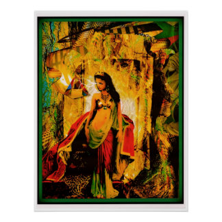 Mujer de Witchy Poster