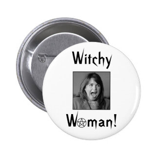 ¡Mujer de Witchy! Pin Redondo 5 Cm